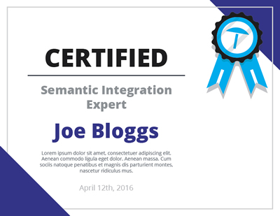 CERTIFIED Semantic Integration Expert