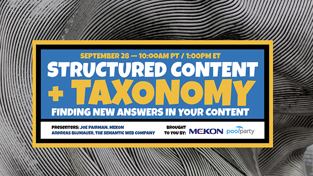 Structured Docs & Taxonomy: Finding New Answers in Your Content