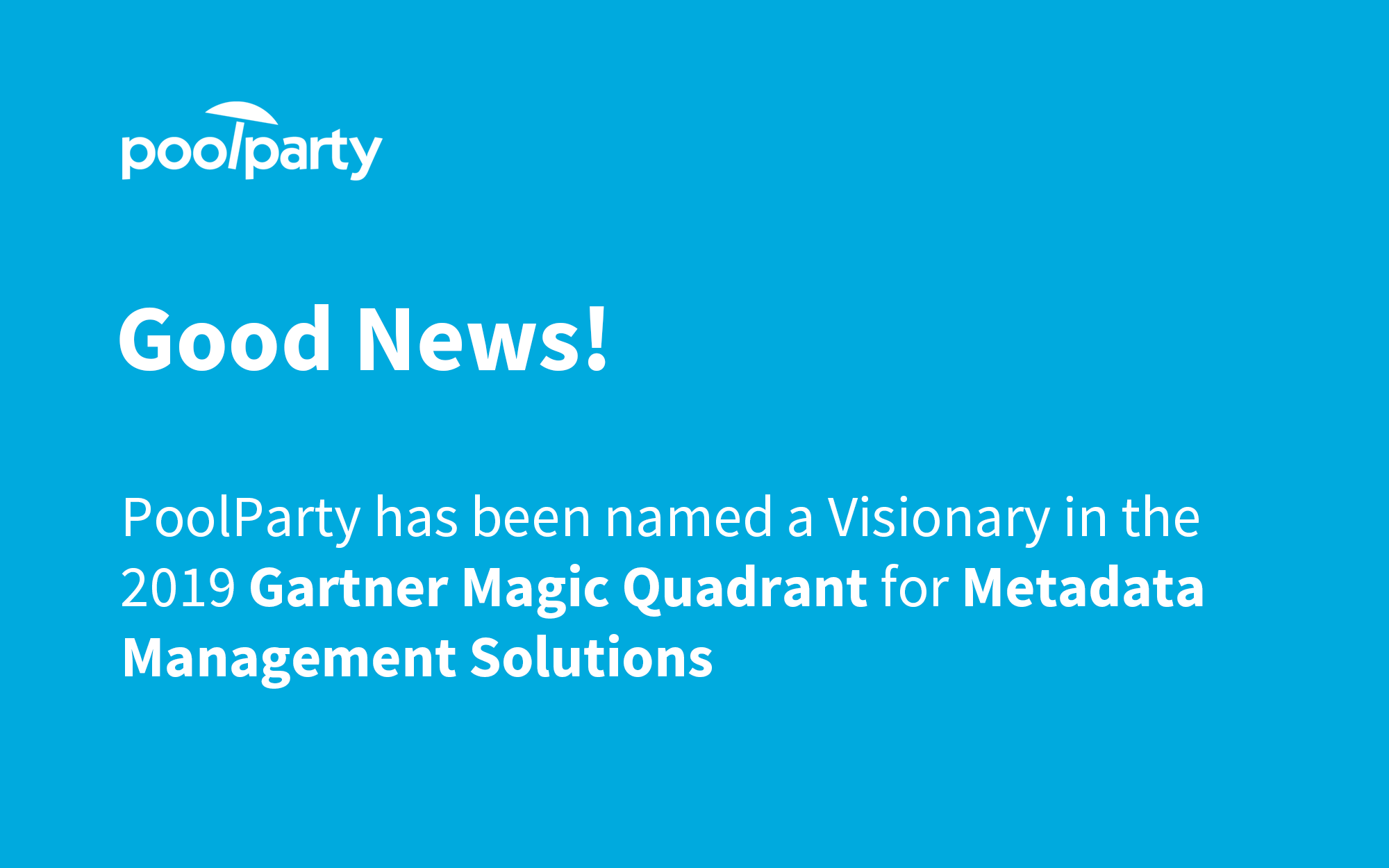 Gartner Names PoolParty as Visionary in 2019 Metadata Management Solutions Magic Quadrant