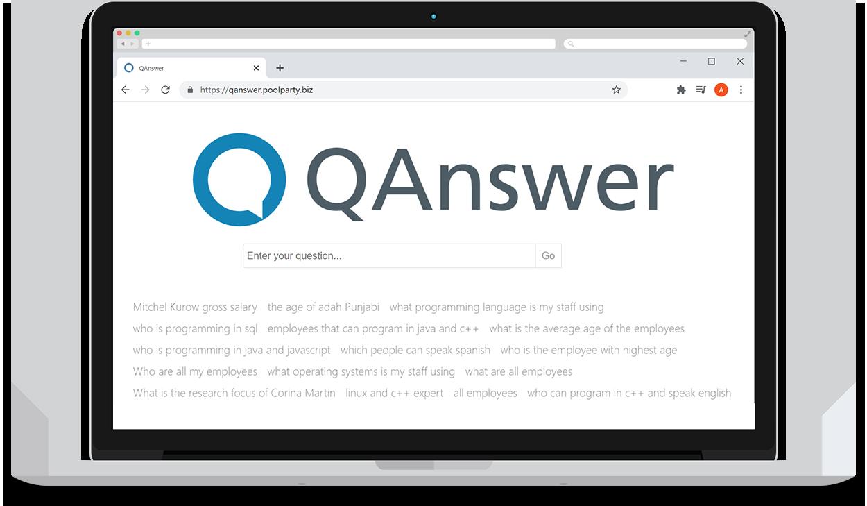 screenshot of QAnswer