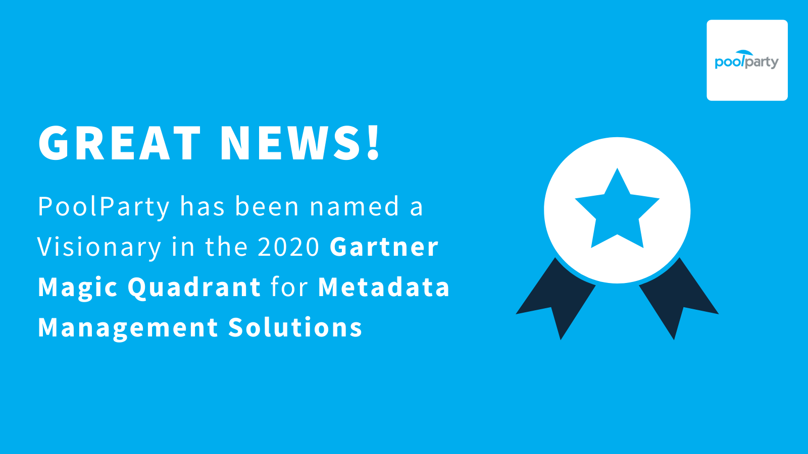Gartner Names PoolParty as Visionary in 2020 Magic Quadrant for Metadata Management Solutions